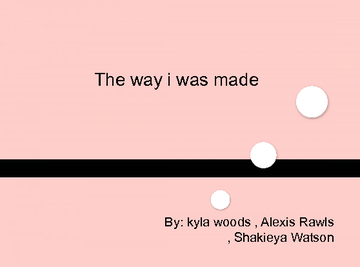 The way i was made ...