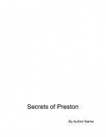 Secrets of Preston