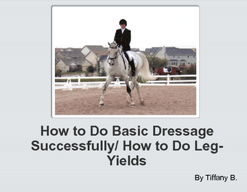 How to Do Basic Dressage Successfully/ How to Do Leg-Yields
