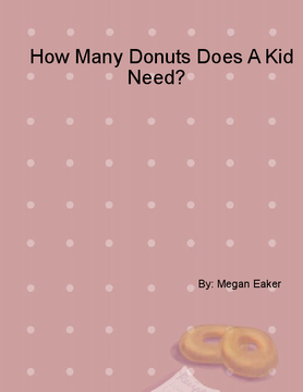 How Many Donuts Does A Kid Need?