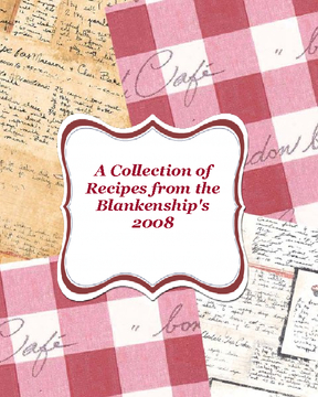 Family Cookbook 2008