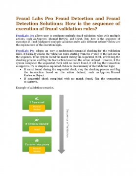 Fraud Labs Pro Fraud Detection and Fraud Detection Solutions: How is the sequence of execution of fraud validation rules?