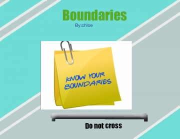 All about boundaries!
