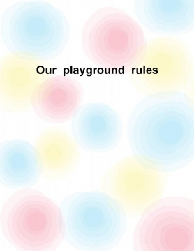 Our Playground Rules