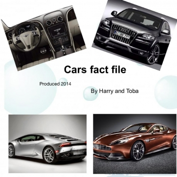 Fact file I about super cars