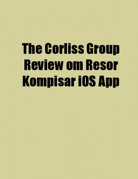The Corliss Group Review om Resor Kompisar iOS App