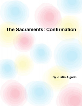 The sacraments: Confirmation