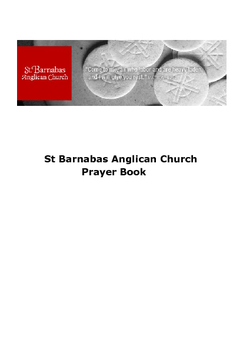 St Barnabas Anglican Church Prayer Book