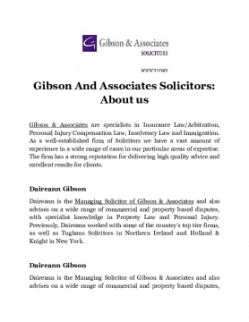 Gibson And Associates Solicitors: About Us