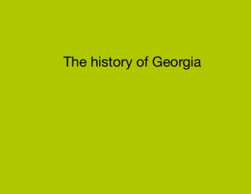The history of Georgia