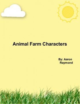 Animal Farm Character