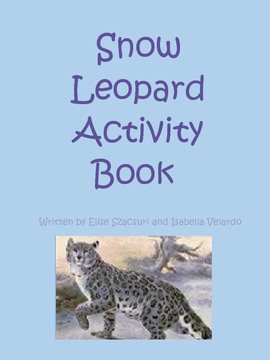 Snow Leopard Activity Book