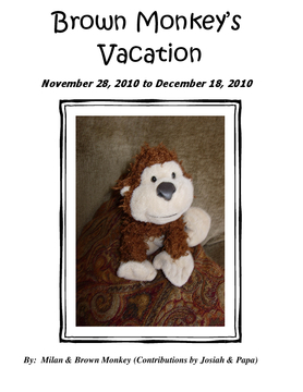 Brown Monkey's Vacation