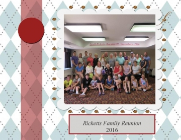 Ricketts Family Reunion 2016