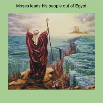 moses leads his people out of egypt