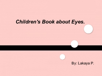 Children book about Eyes