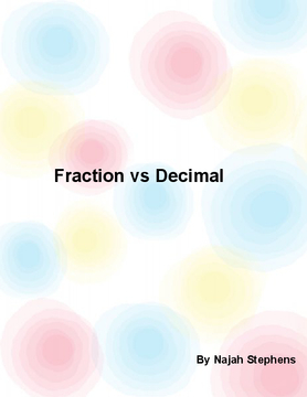 Fraction vs Decimals