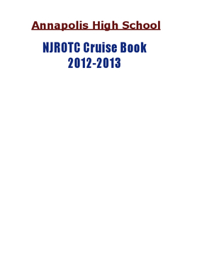 NJROTC Cruise Book