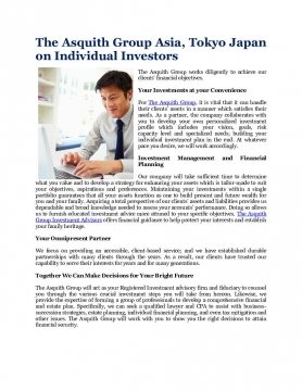 The Asquith Group Asia, Tokyo Japan on Individual Investors