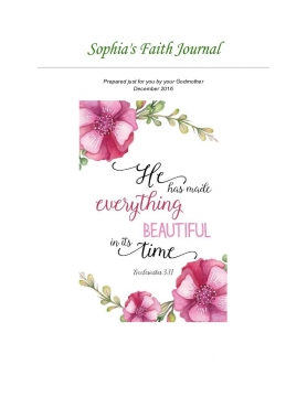 Prayer Journal for God Daughter