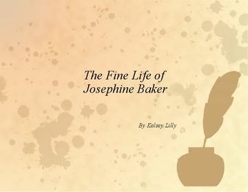 The Fine Life of Josephine Baker