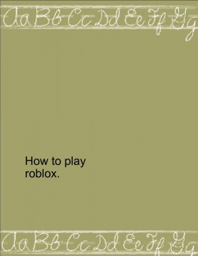 how to play roblox
