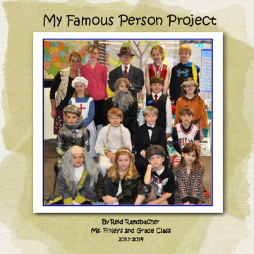 Reid's 2nd Grade Famous Person Project