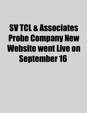 SV TCL & Associates Probe Company New Website went Live on September 16