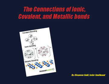 The connections of ionic, covalent, and mettalic bonds