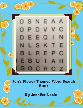 Jen's Flower Themed Word Search Book