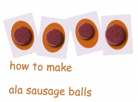 how to make ala sausage balls