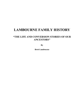 Lambourne Family History Book