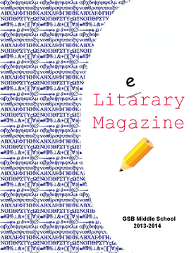 GSB Middle School Literary Magazine