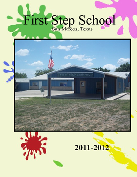 First Step School Yearbook 2011-2012