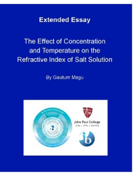 To what extent does the concentration and temperature of salt solution (Sodium Chloride: NaCl) have an effect on the refractive index of the solution?