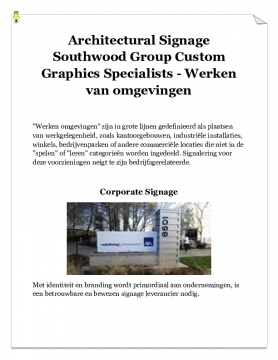 Architectural Signage Southwood Group Custom Graphics Specialists