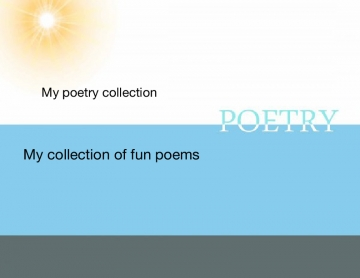 My Poetry Collection