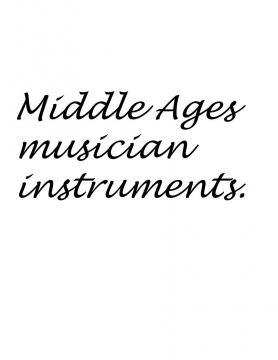 Musical instruments from the dark ages