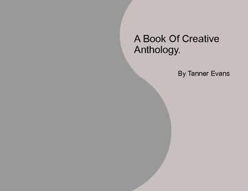 A Book Of Creative Anthology