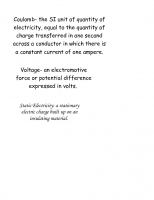 Electricity and Magnetism Vocabulary Guide