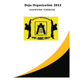 Dojo Organization 2013 Yearbook