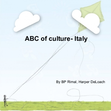 ABC of culture- Italy