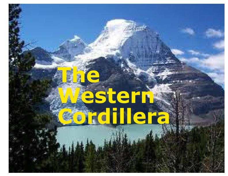 The Western Cordillera Book 219794 Bookemon