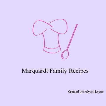 Marquardt Family Cookbook 2013