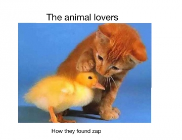 Animal lovers how they found zap