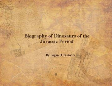 Period Three Jurassic Dinosaurs