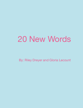 20 New Words