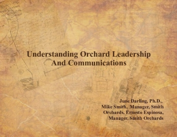 Understanding Orchard Leadership and Communications