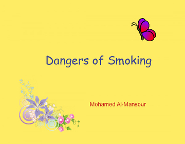 Dangers of Smoking 2nd edition