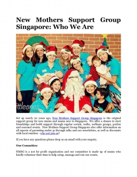 New Mothers Support Group Singapore: Who We Are